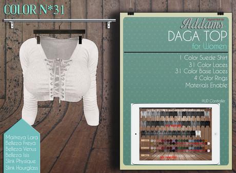 """Addams """"Daga"""" Mesh Shirt for Maitreya, Belleza, Slink #43"""