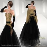 .:FlowerDreams:.Thea - black applier gown
