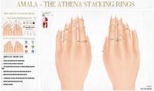 Amala - The Athena Stacking Rings