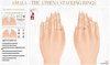 Amala - The Athena Stacking Rings - Birthstone Add-On HUD