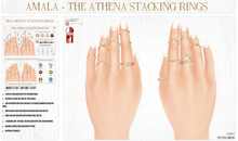 Amala - The Athena Stacking Rings - Birthstone Add-On HUD