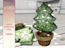 Wood Christmas tree (green) 1 prim