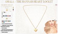 Amala - The Hannah Heart Locket - Birthstone Add-On HUD
