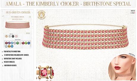 Amala - The Kimberly Choker - Birthstone Special
