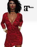 XK Maitreya Deep V Minidress Lady In Red
