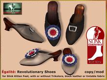 DEMO Bliensen + MaiTai - Egalite - reviolutionary shoes for Slink Kitten Feet