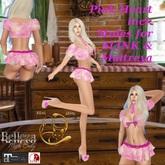 Pink Heart Maitreya Mesh Top + Skirt + Heels