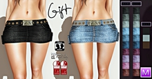 :: Millenaire Denim Skirt with Belt Fitmesh GIFT