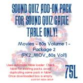 Sound Quiz 80s Movies - Trivia add-on pack