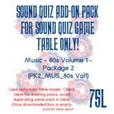 Sound Quiz 80s MUSIC Trivia add-on pack