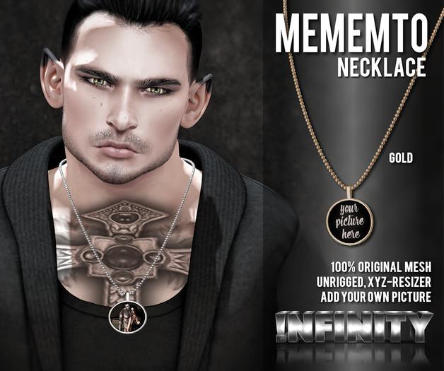 !NFINITY Mememto Necklace - GOLD (add/wear)