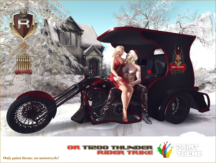 PAINT THEME FOR OR T1200 THUNDER RIDER - DARK CHRISTMAS
