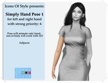 IOS Simple Hand Pose 1 -  fullperm