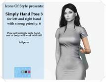 IOS Simple Hand Pose 3 -  fullperm