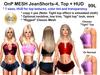 Buy mesh jeanshorts 4 top and hud