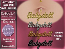 GIFT! ABAR eBody Curvy - Babydoll Navel Piercing with HUD