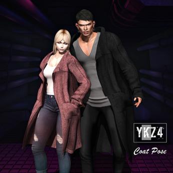YKZ4. Coat Couple Pose