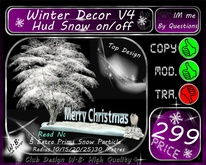 * Merry Christmas Deco * Hud Snow Button on/off * Extra Snow P.
