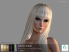 rezology Hime Cut (RIGGED mesh hair) - 557 complexity