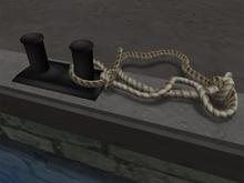Dock Mooring Bollard with Rope