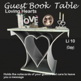 Guest book - Loving hearts