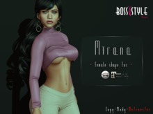 .::Boss Style::.Shape Mirana for bento Catwa Catya