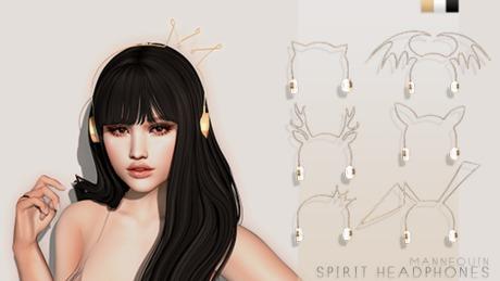 Mannequin. Spirit Headphones - Gold