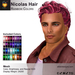 A&A Nicolas Hair Mesh Rainbow Colors Pack. Mens mesh hairstyle