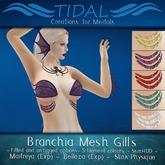 ~TIDAL~ Branchia Fitmesh Gills Maitreya/Belleza/Slink/Unrigged Skin HUD included. Unisex