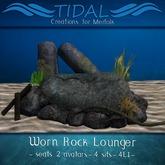 ~Tidal~ Worn Rock Lounger - Mermaid seat with poses