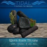 ~TIDAL~ Worn Rock Throne - Mermaid seat with poses