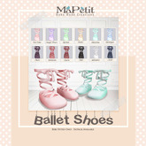 Bebe Ballet Shoes -  Plum (Dark Purple)