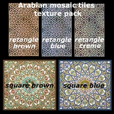 Arabian mosaic tiles texture pack