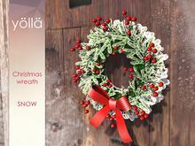 Mesh Christmas wreath (snow) 1 prim