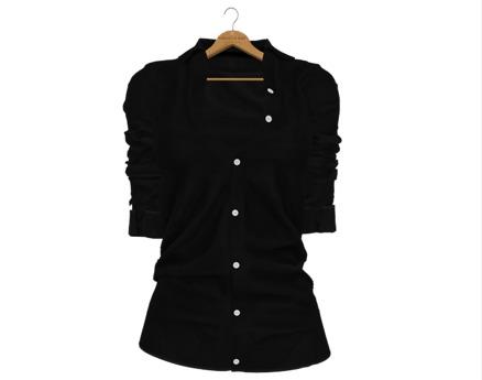 * Vanilla Bae * The Boyfriend Shirt in Black / Strip Me / Maitreya, Slink Hourglass, Belleza Freya
