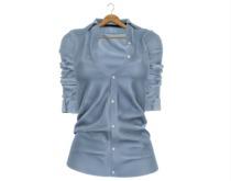 * Vanilla Bae * The Boyfriend Shirt in Blue / Strip Me / Maitreya, Slink Hourglass, Belleza Freya