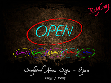 .:[ RatzCatz ]:. NEON Sign 'Open'