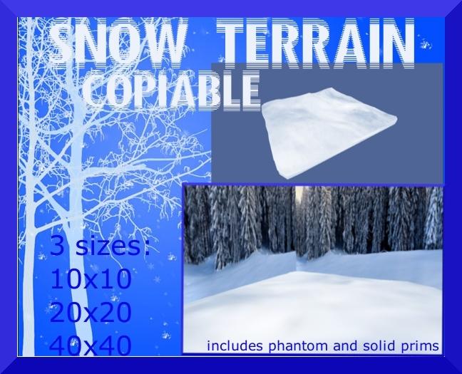 Sculpted snow terrain 3 sizes