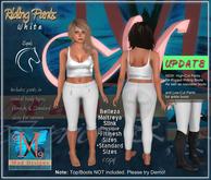 .::MD::.  UPDATED! Riding Pants Women Type-1 White - Belleza, Maitreya, Slink, Fitmesh