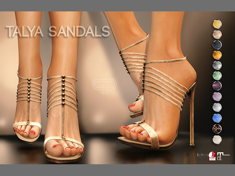 Pure Poison - Talya Sandals - Ad - ons for Belleza, Maitreya, SLink