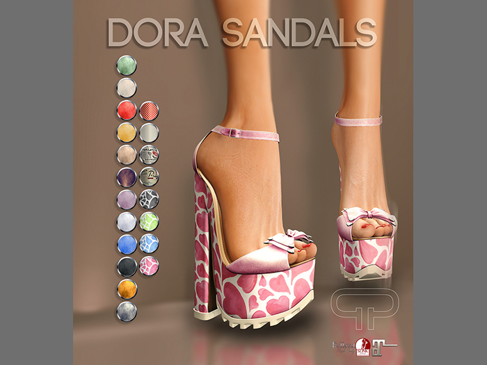 Pure Poison - Dora Sandals Ad - ons for Belleza, Maitreya, SLINK High Feet