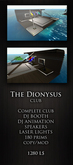 The Dionysus club PROMO ( lounge nightclub techno  luxury  outdoor high detailed