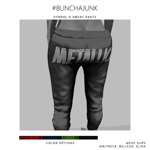 #BunchaJunk // Symbol'd Sweats - Red