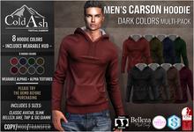 {COLD-ASH} Mens MESH CARSON Hoodie (Dark Colors) (Boxed)