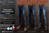 {COLD-ASH} Mens MESH RILEY BOOT-STYLE JEANS FATPACK