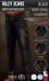 {COLD-ASH} Mens MESH RILEY BOOT-STYLE JEANS (Black)