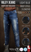 {COLD-ASH} Mens MESH RILEY BOOT-STYLE JEANS (Light Blue)
