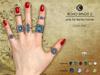 [*K*] Boho Rings 2 for bento hands