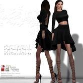 SEVEN - MAYRA mesh OUTFIT (black)