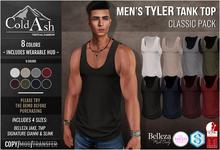 {COLD-ASH} Mens MESH TYLER Tank Top (CLASSIC PACK)